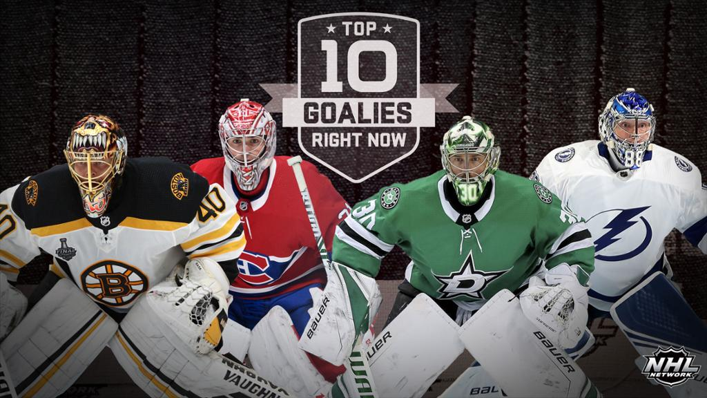 #NHLTopPlayers: Top 10 Goalies
