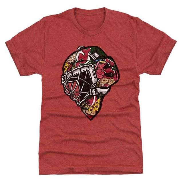 Jersey Food Goalie Mask T-Shirt Design