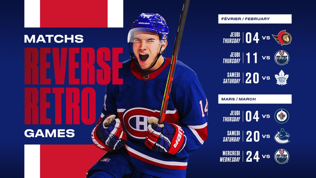 Canadiens Announce Reverse Retro Jersey Dates