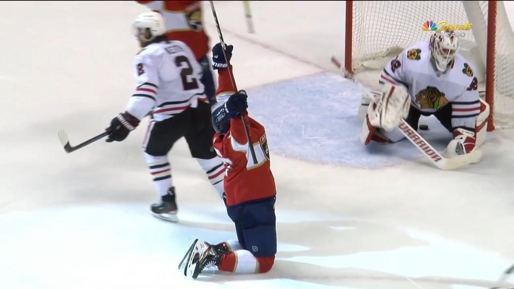 Yandle scores 100th National Hockey League goal, Panthers beat Blackhawks 5-2