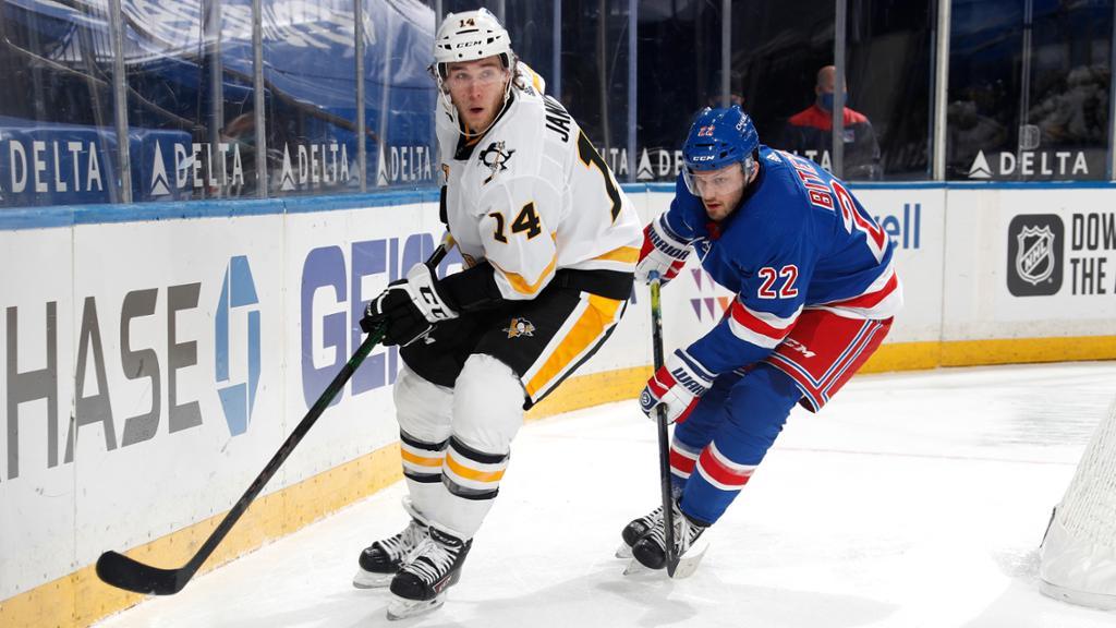 Rangers snap three-game skid vs. Pittsburgh, beat Pens 3-1