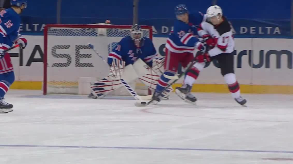 Devils score three in third period, defeat Rangers in ...
