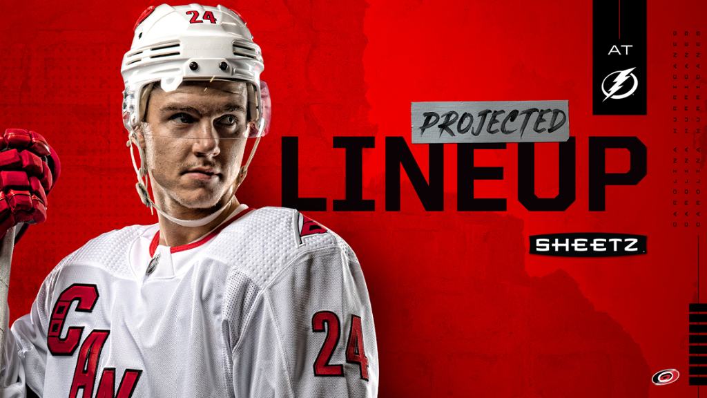 Projected Lineup: Hurricanes at Lightning