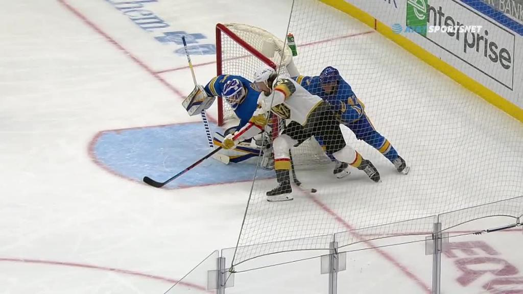 Stone scores twice in third period, Golden Knights defeat Blues