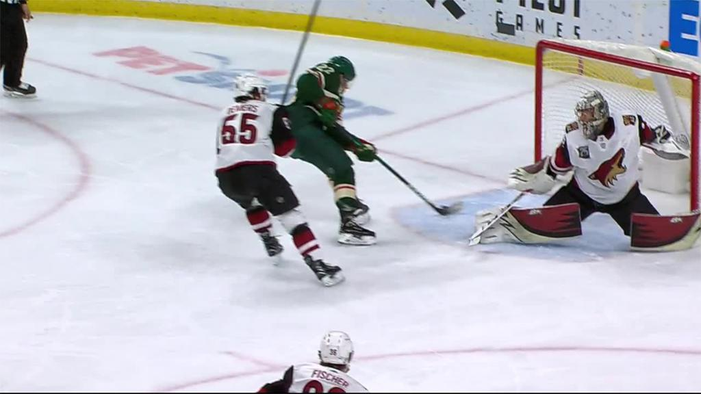 Wild score three in third, defeat Coyotes for fourth straight win