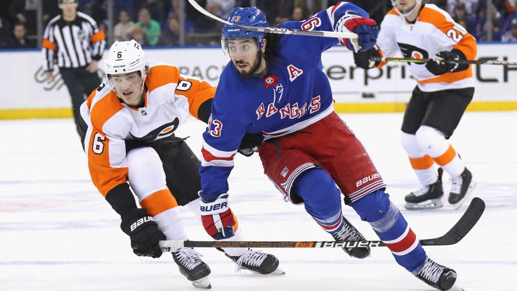 What to Watch: Flyers, Rangers resume rivalry in pursuit of playoffs