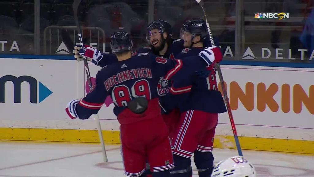 Zibanejad's six-point period ties NHL record, lifts Rangers past Flyers
