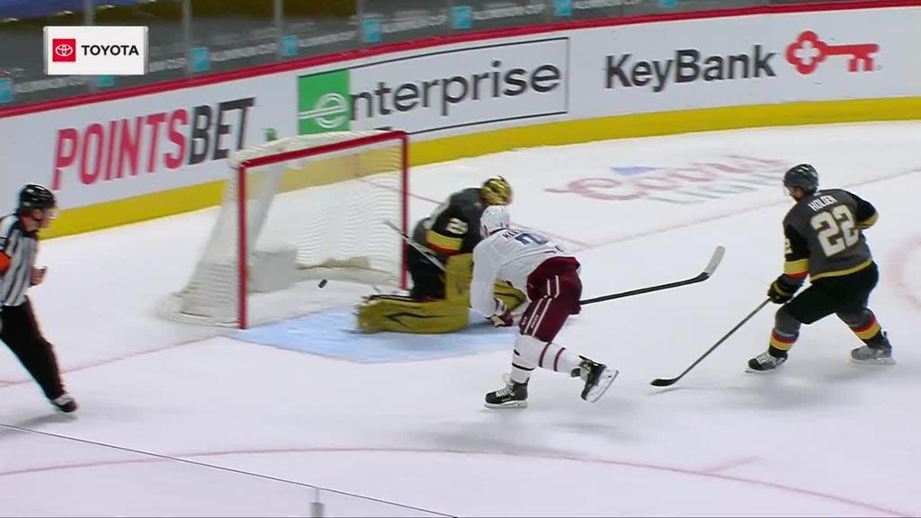 Avalanche defeat Golden Knights, extend point streak to nine