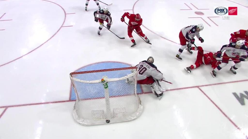 Pickard, Red Wings defeat Blue Jackets again