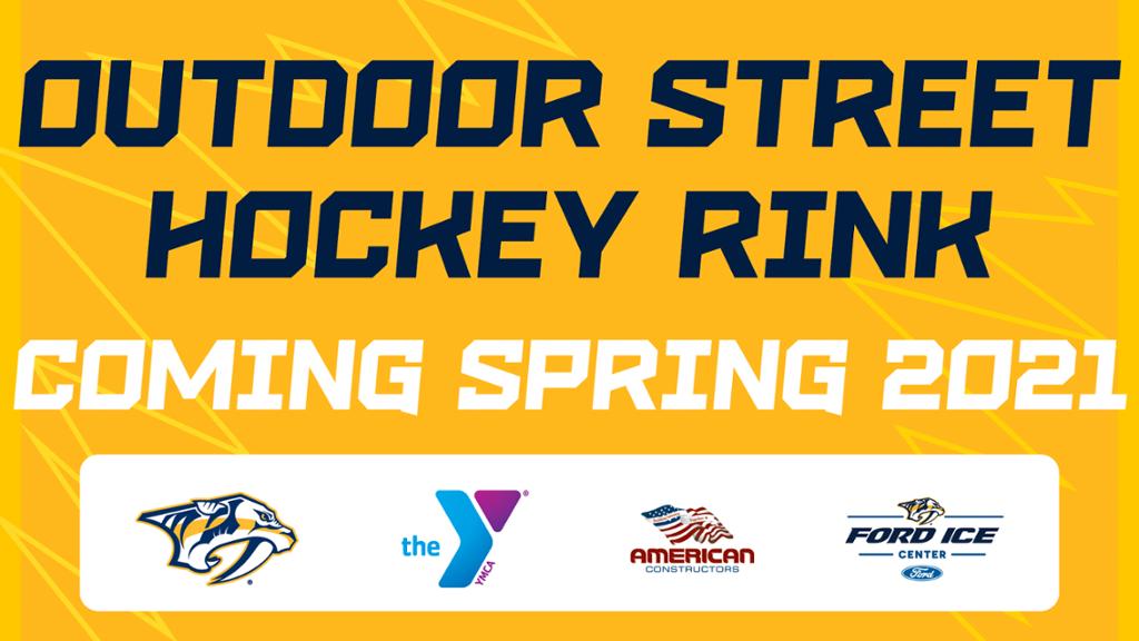 Preds Announce Development of Street Hockey Rink Near YMCA in Bellevue