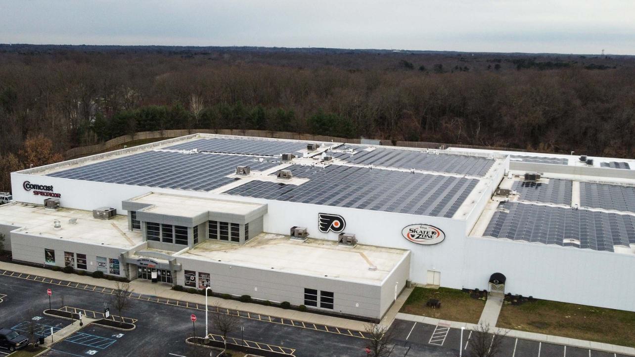 PHI practice arena solar panels