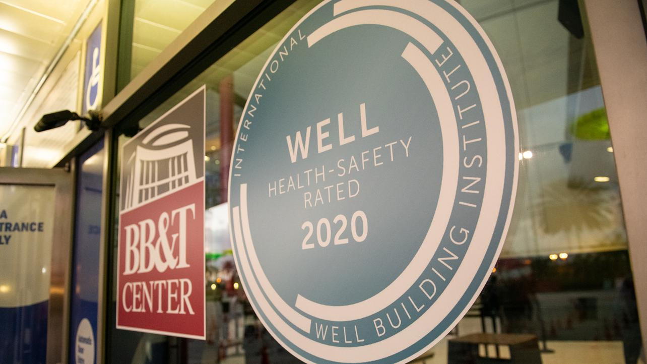 Well Safety sign and BB&T Center