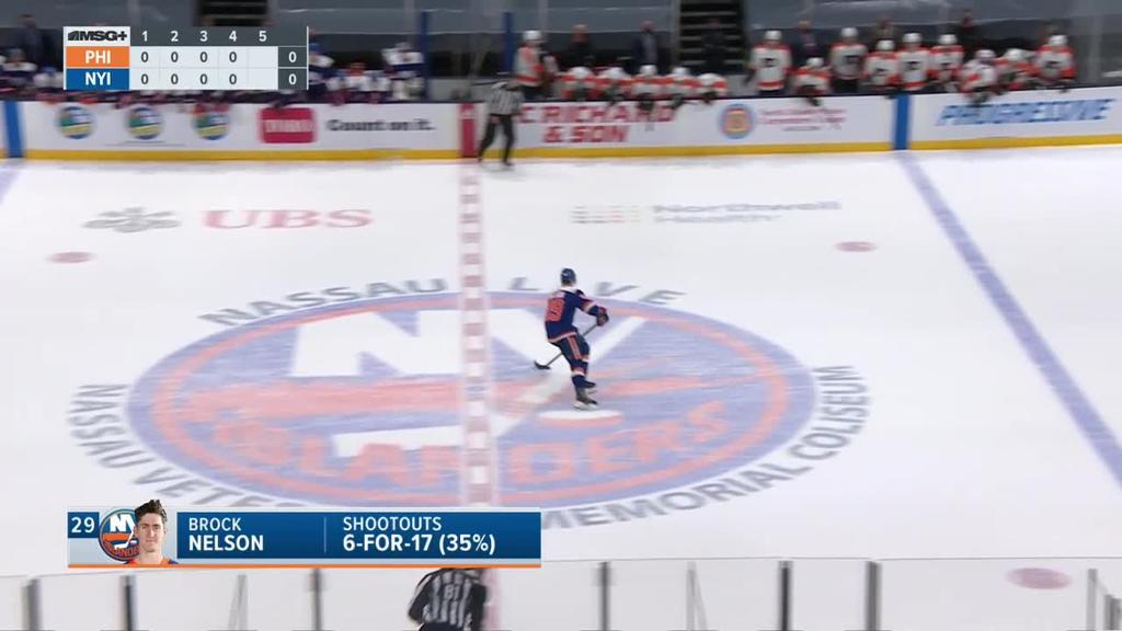 Islanders defeat Flyers in shootout in first game after trade