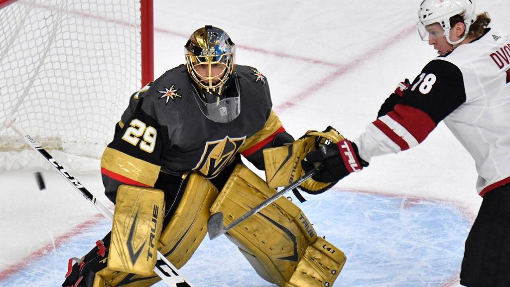 Golden Knights stifle Coyotes, sweep two-game set