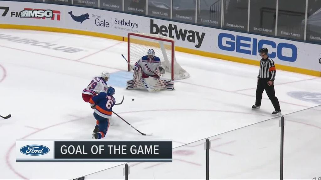 Pulock scores first of season in OT to lift Islanders past Rangers