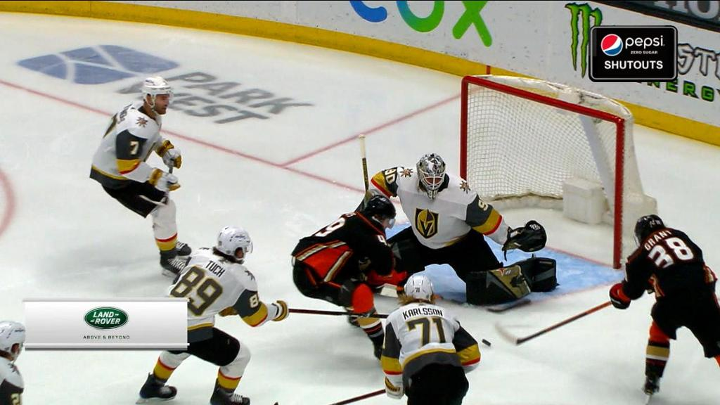 Golden Knights shut out Ducks for fifth win in row