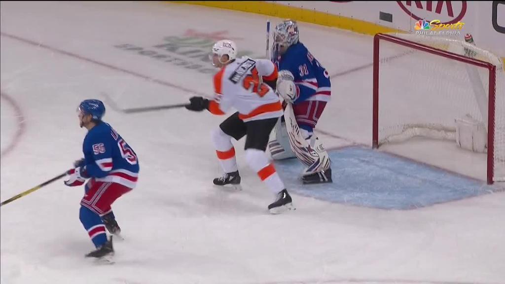 Van Riemsdyk scores twice on power play in Flyers win against Rangers