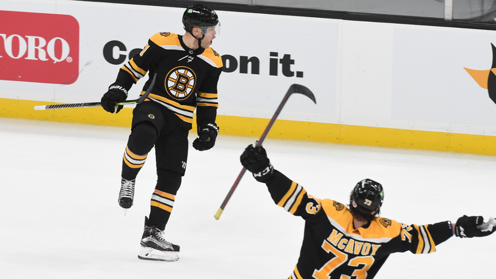 Hall Pots Two to Pace Bruins to OT Victory
