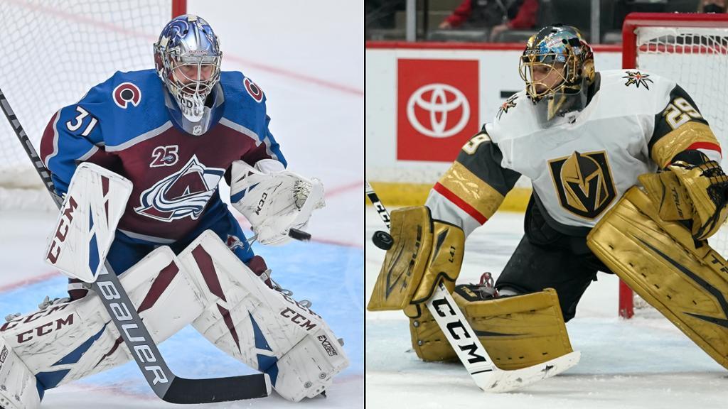 NHL's Top Goaltenders Match Up in Avs vs. Knights   NHL.com