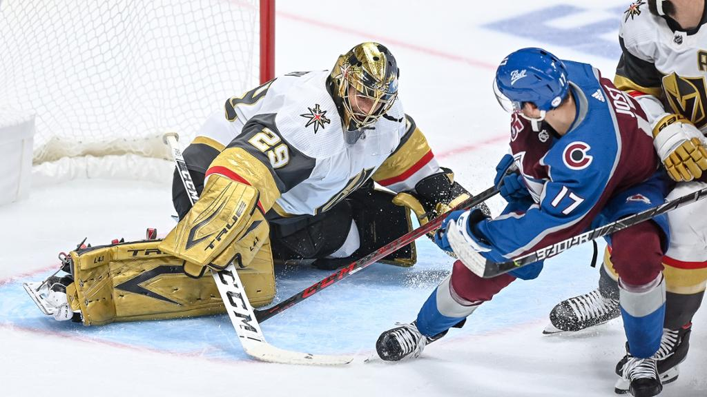 playoffs Fleury overcomes late first-period goal to win Game 5 for Golden Knights thumbnail
