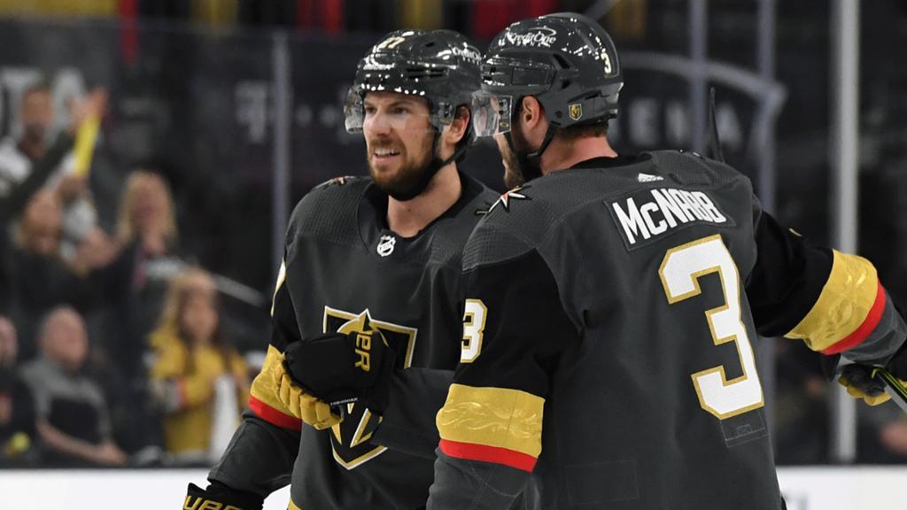 Golden Knights defensemen get offensive in Game 1 win against Canadiens