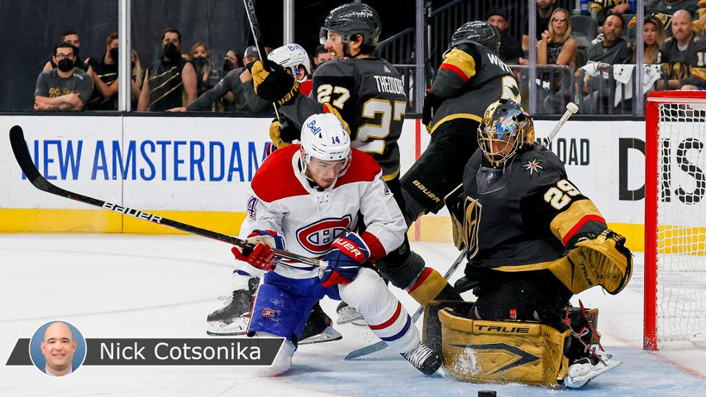 Golden Knights suffer from slow start in Game 2 loss against Canadiens