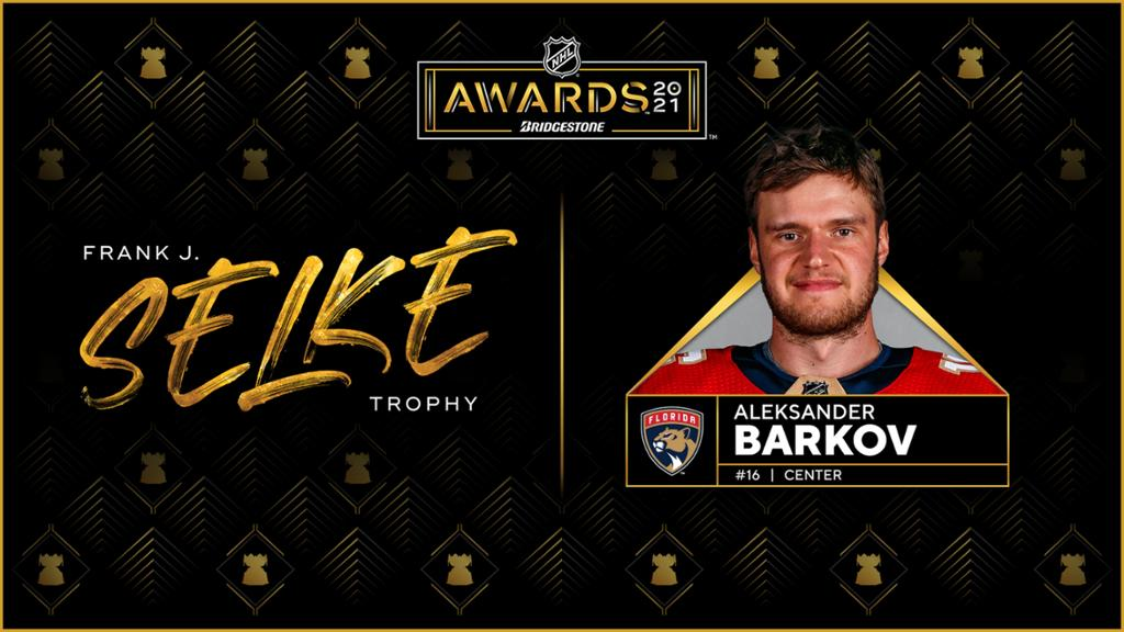 Barkov of Panthers wins Selke Trophy as best defensive forward