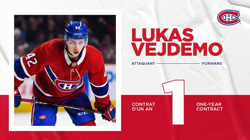 One-year, two-way contract for Lukas Vejdemo | NHL.com