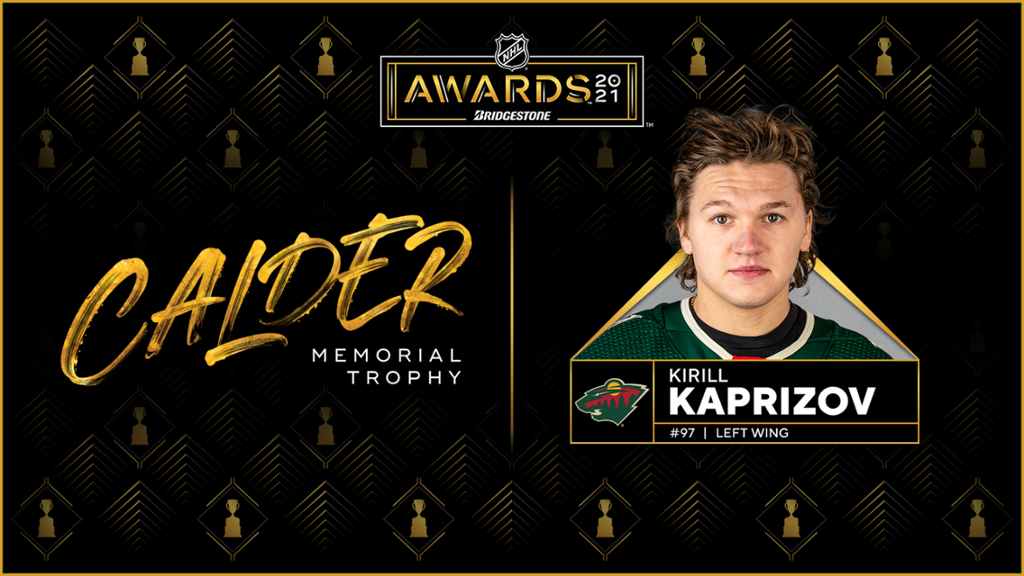 Kaprizov of Wild wins Calder Trophy as NHL rookie of the year
