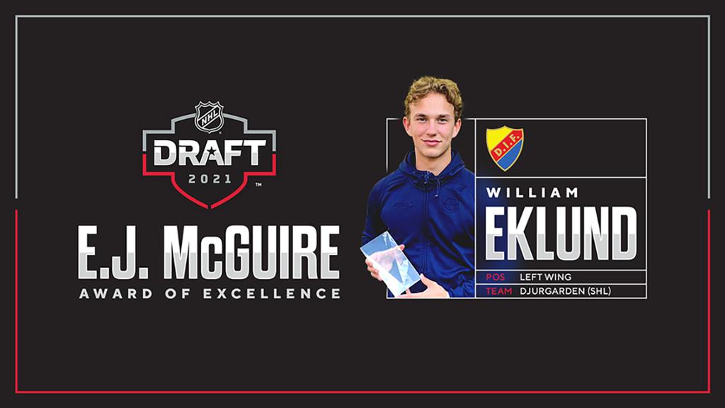 William Eklund får McGuire Award of Excellence