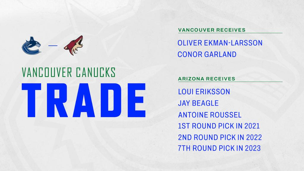 Canucks Acquire Ekman-Larsson and Garland From Coyotes   NHL.com