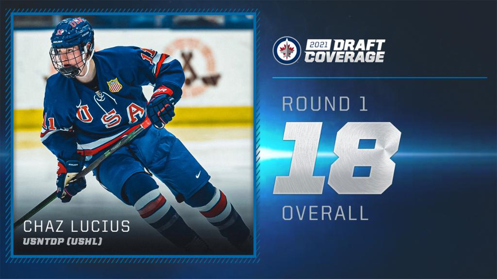 Jets select Chaz Lucius with 18th overall pick | NHL.com