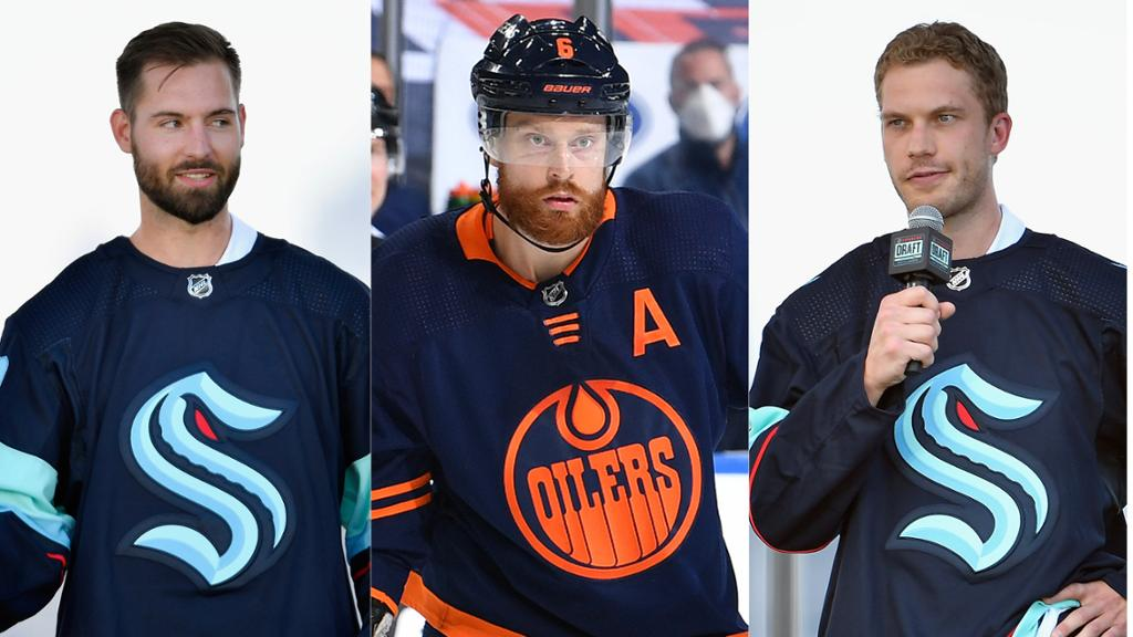 Driedger, Larsson, Oleksiak sign contracts with Kraken