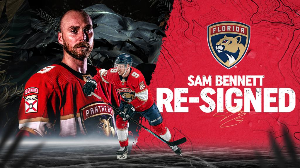 Florida Panthers Re-Sign Forward Sam Bennett to a Four-Year Contract | NHL.com