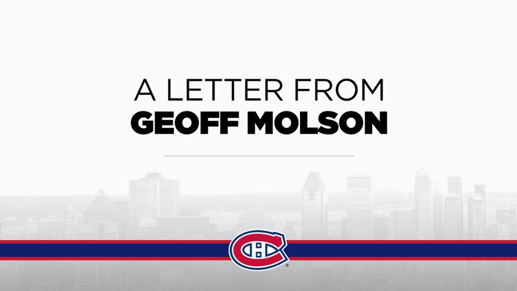 A letter from Geoff Molson | NHL.com