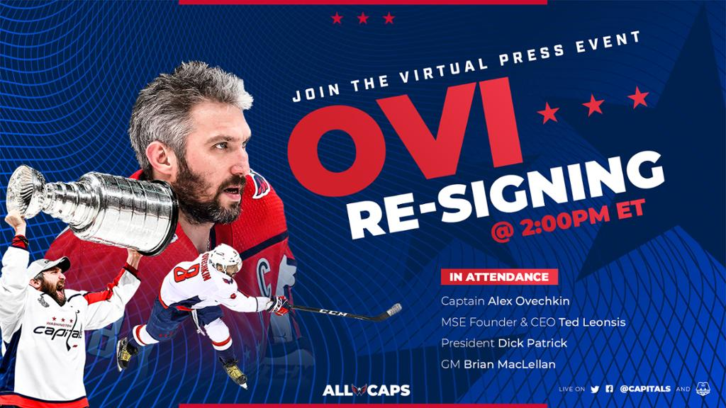 Capitals To Host Virtual Press Event on Thursday at 2 p.m.   NHL.com