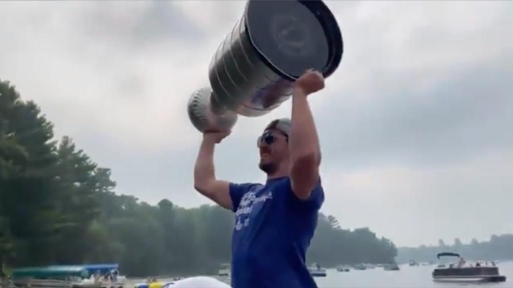 McDonagh takes Stanley Cup out on lake in Wisconsin