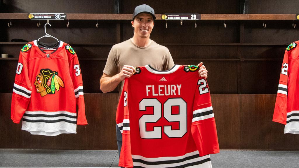 Fleury calls Blackhawks 'very appealing' after trade from Golden Knights
