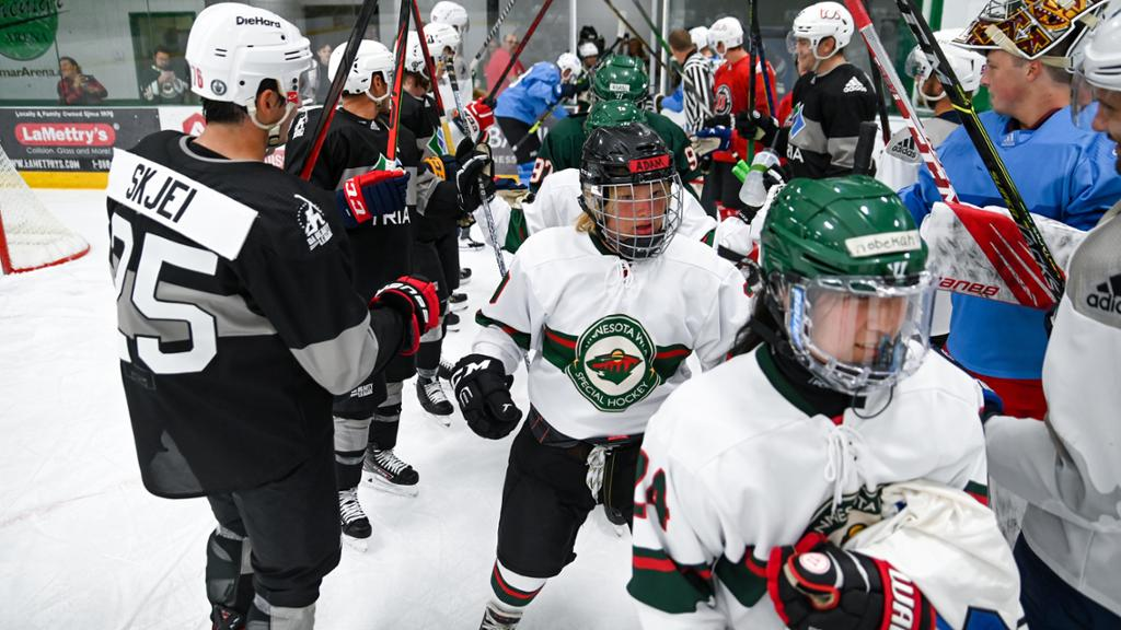 Parise thrilled to have Minnesota Special Hockey players as teammates