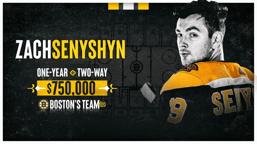 Bruins Sign Zach Senyshyn To 1-Year, Two-Way Contract | NHL.com