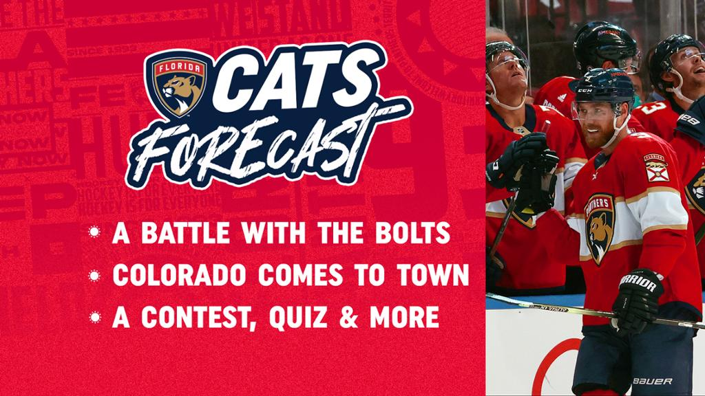 Cats Forecast: A Battle with the Bolts; Colorado Comes to Town