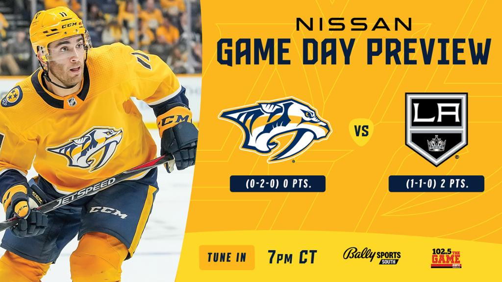 Game Day: Kings vs. Preds Preview